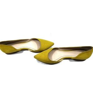 Marc Fisher LTD Chartreuse Sunny d'Orsay Flat